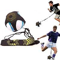 Domeilleur - Cinturón de Entrenamiento de fútbol para niños (Ajustable, para Entrenamiento, Entrenamiento, Entrenamiento, Entrenamiento, práctica Auxiliar), diseño de balón de fútbol