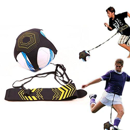 Domeilleur Kinder Fußball-Trainingsgürtel, verstellbar, Fußball-Trainingsausrüstung, Kick-Übung, Hilfsfußball, Juggle Bag