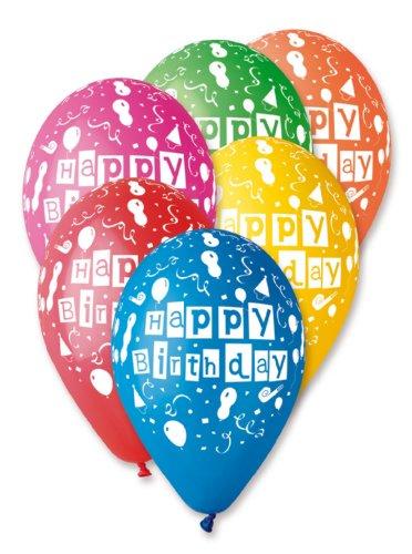 (Karaloon GB02980 - 100 Ballons Happy Birthday, 90-100 cm, Sortiert)