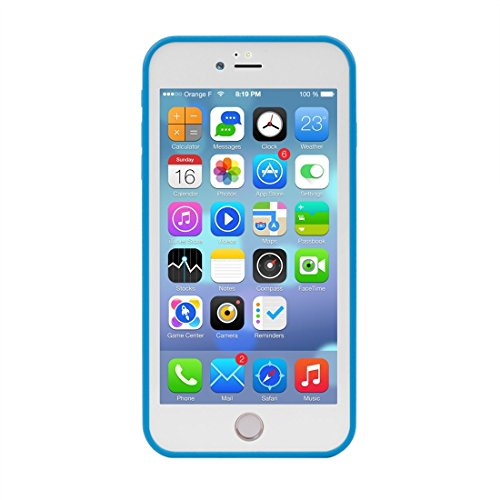 Für iPhone 7 Plus Tridimensionales Diamant-Muster-Leben-wasserdichte TPU + PC schützende Fall-Abdeckung by diebelleu ( Color : Green ) Blue