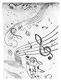 Santex 70090 Musique Chemin de Table ,noir et blanc - 5 Mètres x 30 cm