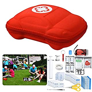 First Aid Kit (70 Piece) Compact, Lightweight for Emergencies at Home, Outdoors, Car, Camping, Workplace, Hiking & Survival