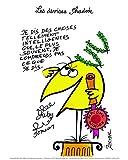 Affiche 24x30 cm Je dis des choses tellement... Jacques ROUXEL (1931-2004)