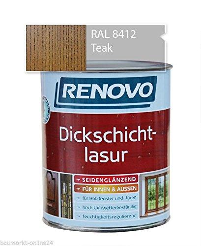 Dickschichtlasur Holzschutz 2,5 L Teak Renovo