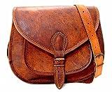 Sankalp L. Creation Handmade Womens Vintage Genuine Brown Cross Body Bag, NEW