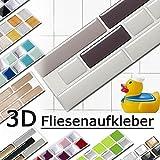 4er Set 28,6 x 5,4 cm Grandora Mosaik Fliesenaufkleber 3D-Effekt große Auswahl W5288 Wandaufkleber...