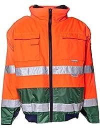 Planam Warn Comfort-Jacke orange/grün