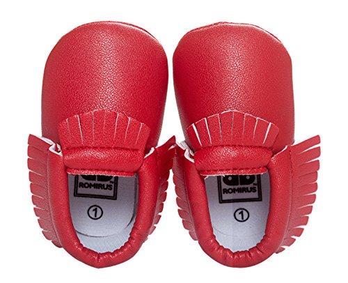 Felizes Cereja Bebê Calçados Crianças Primeiros Passos Jovem Leatherette Menina Sapatos Walker 11-13cm De Comprimento Rastejando Sapatos Calçados De Sapatos De Bebê 6-18 Meses De Outono Melhor Presente - Cor / Tamanho Selecionável Vermelho