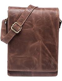 LEABAGS Dover bolso bandolera de auténtico cuero búfalo en el estilo vintage