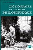 Dictionnaire de la langue philosophique
