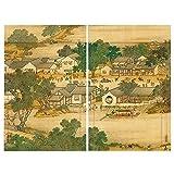JIANFEI-Bambusrollo raffrollo Lichtfilterung Trennwand Vorhang Rollo Insektenbekämpfung, 3 Farben, 23 Größen Kann Angepasst Werden (Farbe : 2#, größe : 120x180cm)