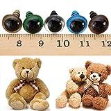 Calli 100pcs 14mm Baby Kind Handwerk Kunst Mix Farbe Plastiksicherheits Augen DIY Teddy Bären Puppe Plüschtiere Puppen Crafts