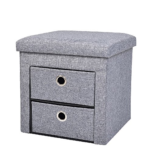 Lagerung Faltbare Hocker Box Vogue Folding 2 Storage Schubladen Storage Hocker - Ottoman Lagerung Stoff