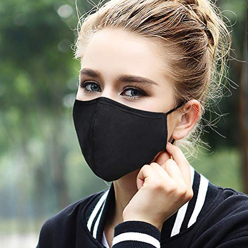 Qeedio Unisex Anti-Verschmutzungsmaske Waschbar Pm2.5 Mundmaske mit Aktivkohlefilter Wiederverwendbare Baumwolle Verstellbare Winddichte Gesichtsmasken