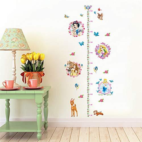 Ufengke adesivi murali metri da parete principessa adesivi muro cervo fiori per camerette bambini asilo nido casa ragazza
