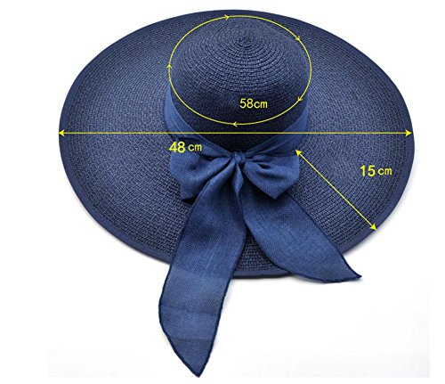 chapeau de plage, dame chapeau de paille, chapeau de paille mode d'été Navy