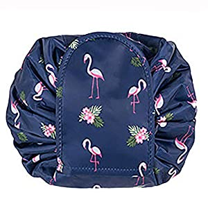 Large Capacity Lazy Makeup Toiletry Bag Drawstring Portable Travel Casual Waterproof Quick Pack Magic Makeup Storage Bag Perfect for Women Girls