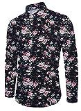 Funnycokid Jugendliche Hemd Druck Volle Hülse d Button Down Cool Blumen Pattern Herren Lässig Hemd