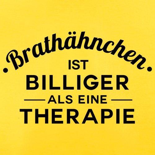 Brathähnchen ist billiger als eine Therapie - Herren T-Shirt - 13 Farben Gelb