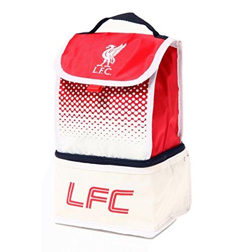 Lunchtasche mit 2 Fächern, isoliert, mit Motiv eines Fußballteams, verschiedene Motive zur Auswahl liverpool fc