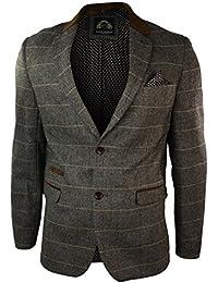Herrensakko Karriert Braun Fischgrate Vintage Tweed Design Eng