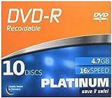 Platinum DVD-R 4,7 GB DVD-Rohlinge (16x Speed) 10er Slim Case