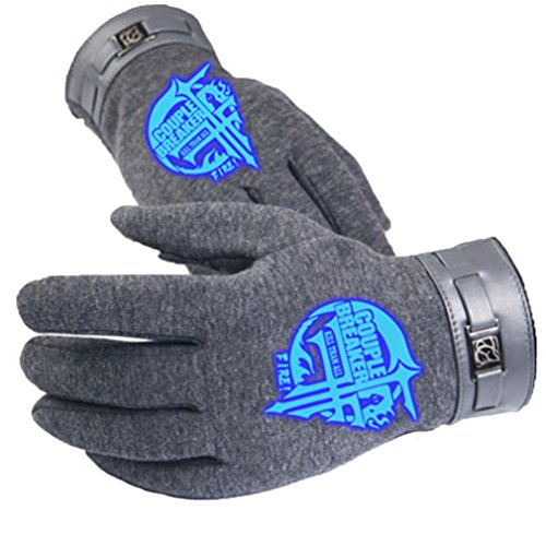 Bromeo Gintama Anime Hiver Chaud Lumineux Écran Tactile Gants Gloves Mittens Gris 3