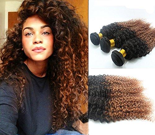 Nouvelle arrivee! afro crépus extensions de cheveux bouclés 3 Bundles 300grammes(20''22''24'') Couleur#1b/30