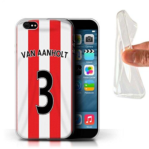 Offiziell Sunderland AFC Hülle / Gel TPU Case für Apple iPhone 6+/Plus 5.5 / Pack 24pcs Muster / SAFC Trikot Home 15/16 Kollektion Van Aanholt