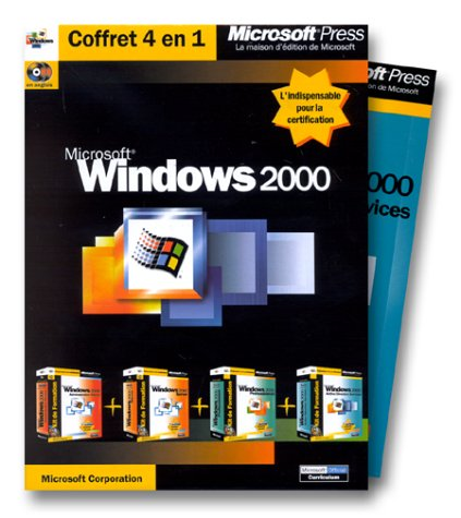 Kits de formation Microsoft Windows 2000, coffret de 4 volumes (avec CD-Rom)