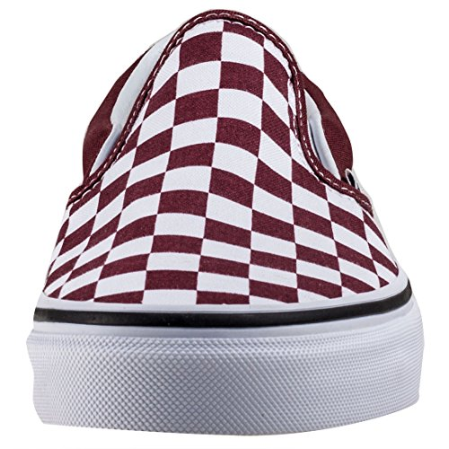 Vans Classic, Baskets Slip-On Mixte Adulte Rouge (Checkerboard)