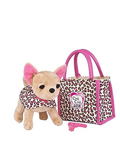 Simba 105892281 - Chi Chi Love Plüschhund 20cm mit Tasche im Leo Look (Simba Chi Chi)
