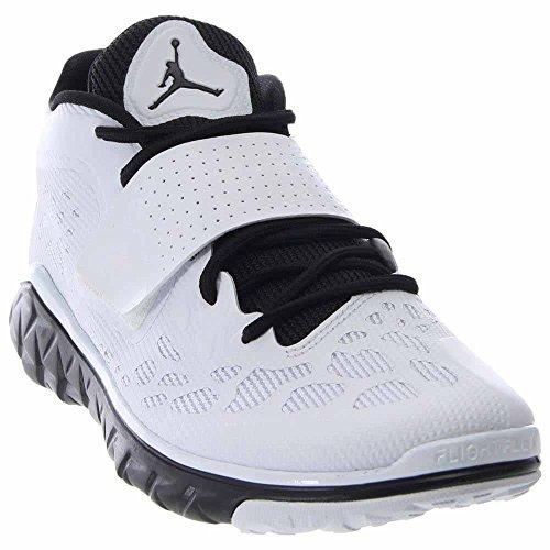 Nike Herren Jordan Flight Flex Trainer 2 Turnschuhe, Schwarz/Weiß (Schwarz/Weiß-Schwarz), 44 1/2 EU (Nike Air Flight Jordan)