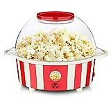 AA-SS-Popcorn Maker Máquina eléctrica de Palomitas de maíz para Hacer Palomitas de Aire Caliente para Hacer Palomitas de maíz saludables y sin Grasa -Red-850W