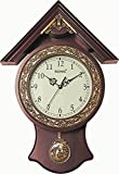 Bella Sonic Brown 311 Hut Shape Pendulum wall Clock/Watch For Home
