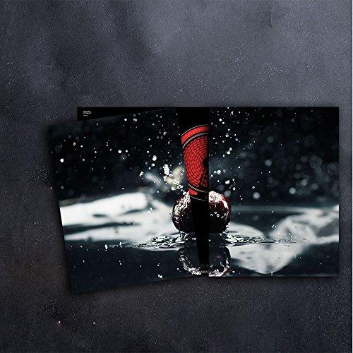 DAMU Herdabdeckplatten 2 x 40 x 52 cm Ceranfeldabdeckung Schutz Herdblende 80x52 2teilig Glas Spritzschutz Abdeckplatte Glasplatte Herd Ceranfeld Abdeckung Schneidebrett Früchte Schwarz