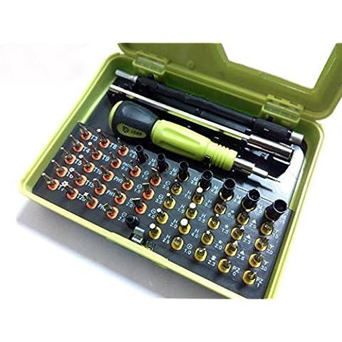 Juego de Herramientas 53 en 1. Destornilladores de estrella de alta precisión ideales para reparación de Pcs, smartphones y otros productos electrónicos