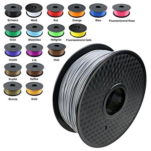 TIANSE Imprimante 3D Filament PLA 1.75mm 1KG, Argent