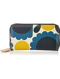 Womens Big Zip Wallet Wallet Multicolour (Stone) Orla Kiely