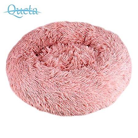 Queta Deluxe-Haustierbett,für Katzen und kleine bis mittelgroße Hunde,Leicht zu reinigen,Bett für Haustiere in Doughnut…