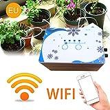 xuanyang524 Automatische Bewässerungsvorrichtung, Intelligente Bewässerung WiFi Automatische Bewässerung für Gartengewächshaus, Blumenbeet, Terrasse, Rasen (weiß)