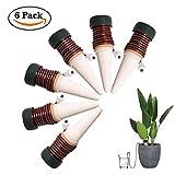 FEIGO Wasserspender für Zimmerpflanzen Automatisch Bewässerungssystem 6 Stück Wasserspender mit Saugschlauch 11 * 3cm kleinere Topfpflanzen Bonsai, Pflanzen, Blumen auf Balkon
