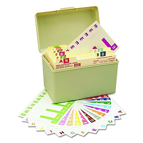 Alpha-Z Color-Coded First Letter Combo Alpha Labels Starter Set, A-Z, 1500/Box