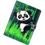 Herbests Kompatibel mit Amazon Kindle Paperwhite 1/2/3 Hülle Ultra Dünn Schutzhülle PU Ledertasche Smart Cover Lederhülle Ständer mit Pencil Halter Auto Schlaf/Wachen Magnetisch Kartenfächer,Panda
