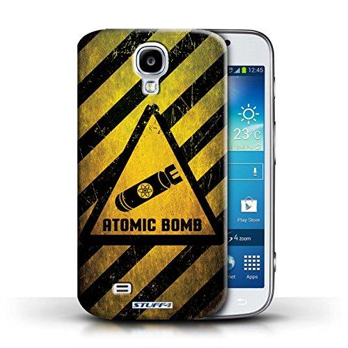 Kobalt® Imprimé Etui / Coque pour Samsung Galaxy S4/SIV / Radiation conception / Série Signes de Danger Bombe Atomique