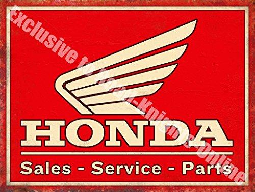 Honda Vendita Manutenzione Parti Moto Auto Metallo/Acciaio Segno Muro - 30 x 40 cm