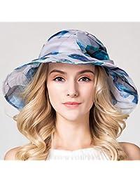 YXINY Viseras Verano Sombreros Sra. Seda Sombrero De Visera Plegable  Sombrero para El Sol Viaje bc729911c16