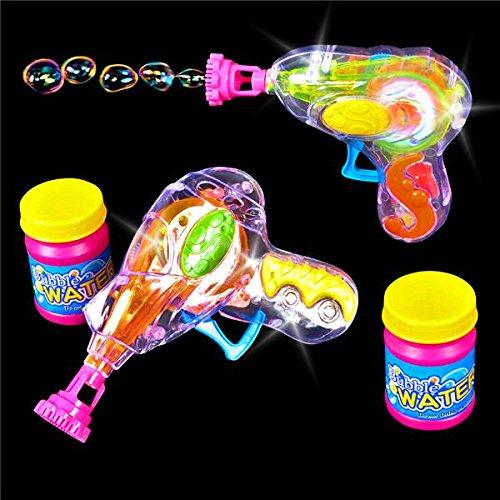 German Trendseller® - Magic Seifenblasen Pistole LED ┃ Light UP ┃ Mitgebsel ┃ Kindergeburtstag ┃ Bubble Gun für Kinder