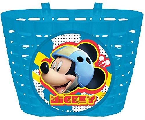 "PREMIUM Fahrradkorb für Kinder ""Mickey Mouse"" Disney Motiv - Fahrrad Korb (Blau)"