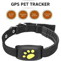 Xuba Traqueur en Temps réel Mignon de Chien de Chat de GPS de GPS traquant Le Collier imperméable d'alarme de localisateur de Trouveur GSM/GPRS